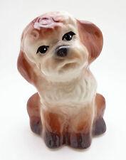 Vintage Puppy Dog Planter Ceramic mid-Century Adorable Figurine Cute, Free Ship