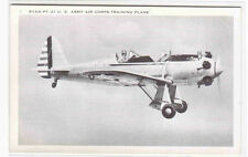 Ryan PT 21 US Army Air Corps Training Plane Monoplane Aircraft WWII postcard