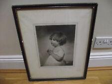 """1908 richard smythe framed engraving titled """" the golden age """" signed"""