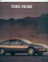 "1989 FORD PROBE GT,GL,LX,GT TURBO  BROCHURE EARLY VERSION 2/88 ""NOS"""
