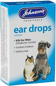 Johnsons Ear Drops for Dogs & Cats -15ml Bottle