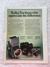 ROLLEI CAMERA SL35E POSTER ADVERT READY FRAME A4 SIZE G