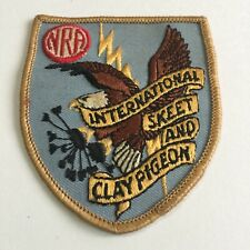 Vtg Used NRA International Skeet Clay Pigeon Eagle Thunderbolt Embroidered Patch
