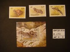 SLOVENIA 2008 - REPTILES SET AND MS MNH