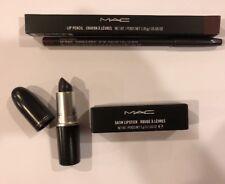 M.A.C. NEW MAC Satin Lipstick + Lipliner KIT SET Cyber (Intense Blackish-purple)