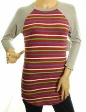 LuLaRoe Randy Women's Striped Red Gray Sleeve Top Size XXS (666)