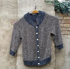 Damen-Pullover & Mittel aus Wolle mit Rundhals und Knöpfe
