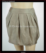 Above Knee Solid 100% Silk Skirts for Women