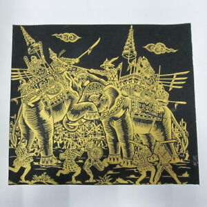 ART FABRIC SILK PRINTING SCREEN CRAFTS TRADITIONAL ANCIENT WAR HISTORICAL PIC