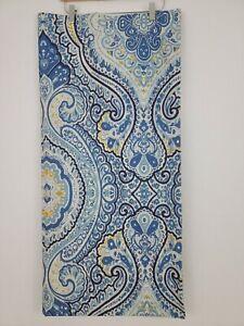 EUC Pottery Barn Beale Paisley Shower Curtain Blue 72x72 Cotton Free Ship
