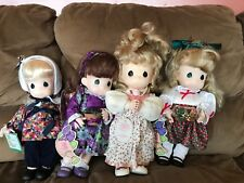 precious moments lot 4 Dolls With Tags. Used In Good Condition And It's Clean