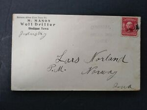 Iowa: Industry 1904 #319 Cover, Light Violet Straight Line Cancel, DPO