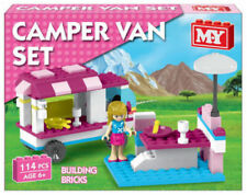 New Girls Birthday Gift Toy 114 Pcs Camper Van Building Bricks Set Lego Pink for