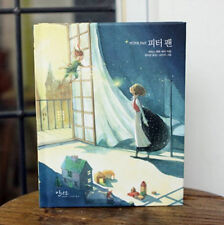Peter Pan by J.M.Barrie Unique Illustration Hard Cover Korean Book