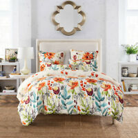 Floral Printed Soft Bed Comforter Set Single Double Queen King Size Pillow Case