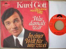 Karel Gott - Was damals war - Single 1969 D Polydor 53 143