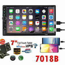 "7"" 2 DIN Car Stereo GPS FM Radio MP5 Player Touch Screen Bluetooth + Rear Camera"