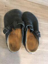 Womens Birkenstock Slides. Size 37 (5). Black Leather