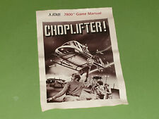 Atari 7800 VCS Instruction Manual - Choplifter *No Game*