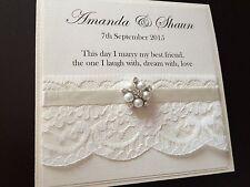 Cluster vintage personnalisé Pearl jour / soir pocketfold invitations de mariage