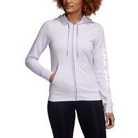 Adidas Women's Essentials Linear Purple Tint Hoodie FM6482 NEW