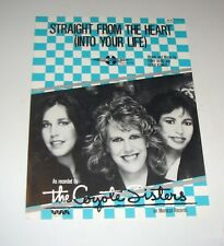 Original 1984 Coyote Sisters Straight From The Heart 6 Page Sheet Music