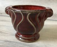 California Pantry Ceramic Red Pottery Handle Planter Decorative Vase
