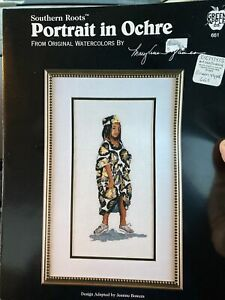 Southern Roots Portrait in Ochre African Black History Cross Stitch GIRL Reames
