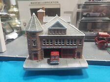 Danbury Mint American Firehouse Norwich Fire Dept.Headquarters Beautiful