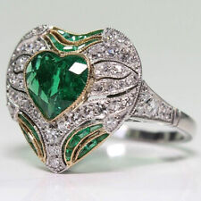 American Fashion Ring jewelry Ld Women Temperament Heart Zircon European and