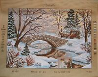Gobelin or Diamant large needlepoint canvas Floral, Scenery