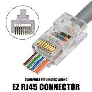 EZC6UTP Connector - CAT6/CAT5 Jar of 50