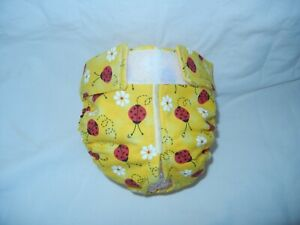 Female Dog Puppy Pet Diaper Washable Pants Sanitary Underwear RED LADYBUGS MED