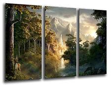 Cuadro Moderno El Señor De Los Anillos base madera, 87 x 62 cm ref. 26222