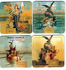 LOT 4 FERNET BRANCA  Coaster Pub Bar Mat COMPLETE COLLECTION FROM ARGENTINA