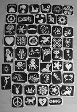 GREAT set of 50 different stencils plus 6 free glitters glitter tattoo L@@K