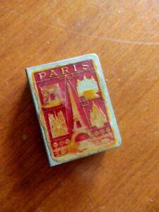 Vintage metal matchbox holder, GAY PARIS, Eiffel Tower