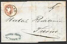 Austria covers 1860 folded letter Triest to Treviso
