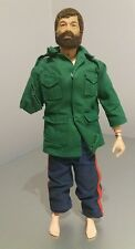 Original Vintage Action Man Flocked Hair Bearded Figure 1964 with clothes