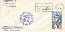 LETTRE T.A.A.F. TERRES AUSTRALES PORT AUX FRANCAIS KERGUELEN DUFRESNE 1977