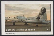 GB Locals - Bernera 2818 - 1982 AIRCRAFT 0f WW2  £2 deluxe sheet  u/m