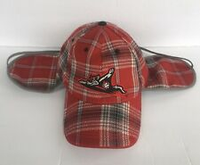 Richmond Flying Squirrels Baseball Melonwear Coca Cola-Ear Flaps Black Red Plaid
