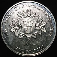 2015 | Jersey Long To Reign Over Us £5 Coin | Cupro-Nickel | Coins | KM Coins