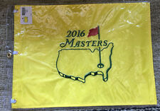 2016 MASTERS FLAG Official EMBROIDERED Golf Pin FLAG Augusta - Danny Willet