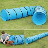 18'Dog Tunnel Portable Obedience Agility Training Chute Dog Supply w/Carrier Bag