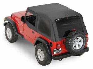 Bowless Frameless Fastback Soft Top w/ Tinted Window 1997-2006 Jeep Wrangler TJ