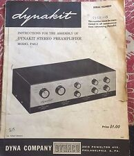 Dynakit PAS-2 Preamplifier assembly manual orignal