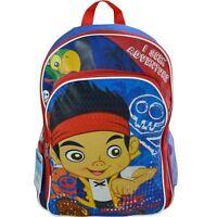 """Backpack 16"""" Jake The Neverland Pirate School Bag NWT I Seek Adventure"""