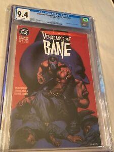 DC Comics Batman Vengeance Of Bane Special 1 CGC Graded 9.4