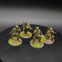 Well painted 28mm Bolt Action US Airborne 4 man hq  team ww2